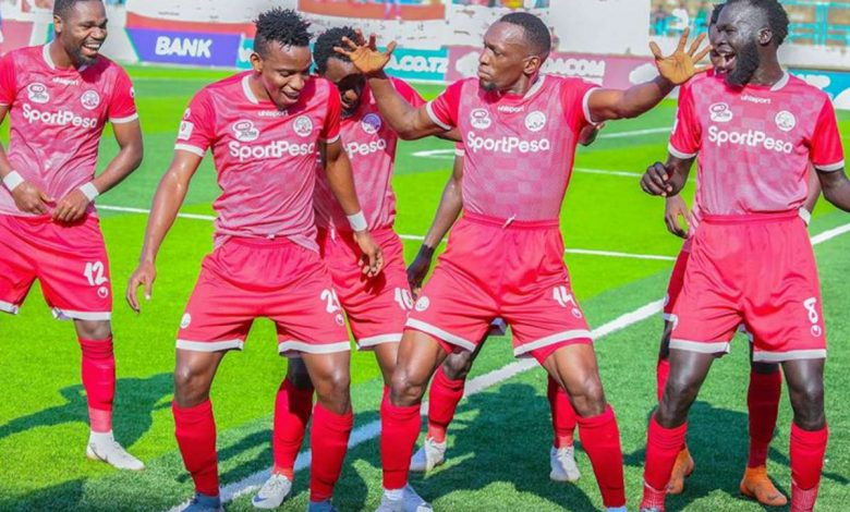 Simba SC players in a past goal celebration.
