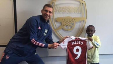 Photo of Kenyan Leo 'Messi' Messo signs for Arsenal FC